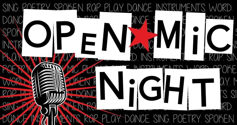 Open Mic Night with Image of microphone